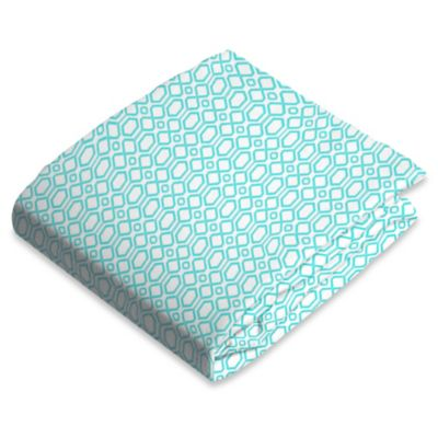 kushies® Flannel Portable Play Pen Fitted Sheet in Turquoise