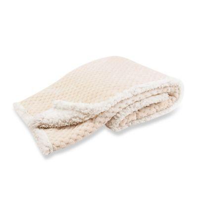 Tadpoles™ by Sleeping Partners Popcorn Plush Microfleece and Sherpa Blanket in Cream