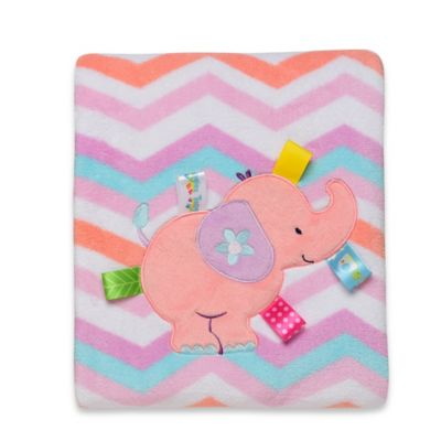 Taggies™ Elephant Chevron Plush Blanket