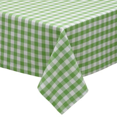 Gingham Check 52-Inch x 52-Inch Tablecloth in Apple Green