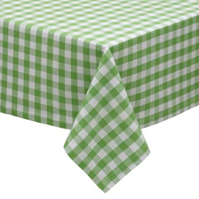Green Apple Check 60-Inch x 84-Inch Tablecloth