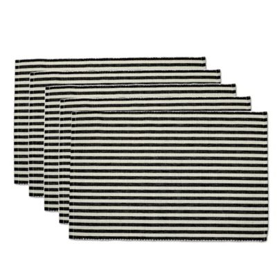 Black Petite Stripe Placemat (Set of 6)