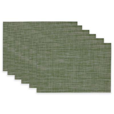 Tonal Tweed Placemat in Fig Green (Set of 6)
