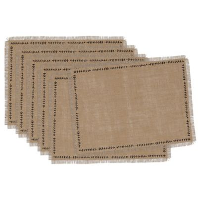 Spring Burlap Printed Placemat (Set of 6)