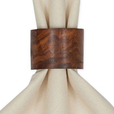 Wood Band Napkin Ring (Set of 4)