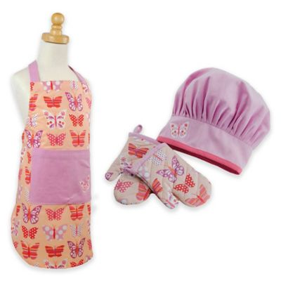 Butterfly Princess Child's Apron and Chef Gift Set