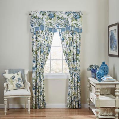 Waverly® Floral Engagement Window Valance in Porcelain