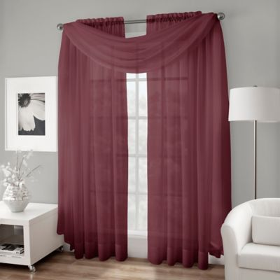Red Scarf Valance