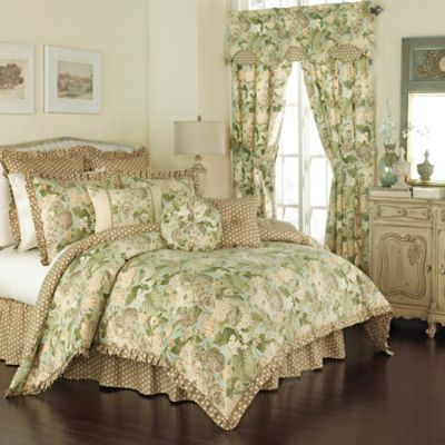 Waverly® Garden Glory Reversible Queen Comforter Set in Mist