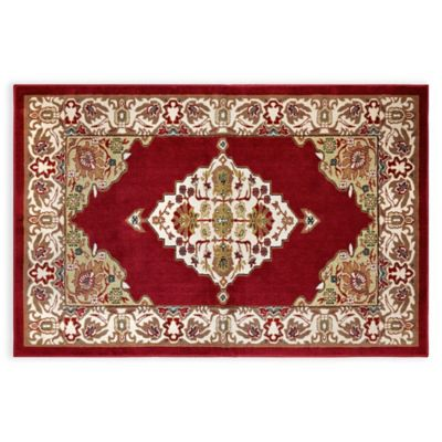 Westwood Floral 2-Foot 1-Inch x 5-Foot Runner in Red