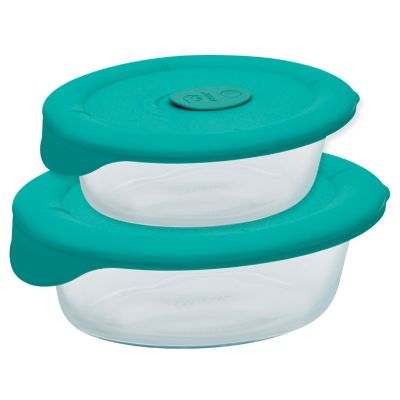 Pyrex® Pro 3.67 Cup Oval Dish with Bondi Plastic Lid
