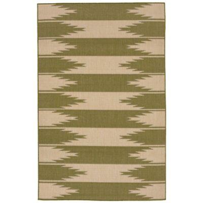 Liora Manne Taos Indoor 1-Foot 11-Inch x 2-Foot 11-Inch Indoor/Outdoor Accent Rug in Green