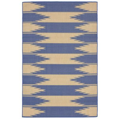 Liora Manne Taos Indoor 1-Foot 11-Inch x 2-Foot 11-Inch Indoor/Outdoor Accent Rug in Marine