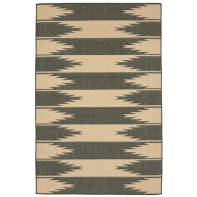 Liora Manne Border 7-Foot 10-Inch Square Indoor/Outdoor Rug in Charcoal