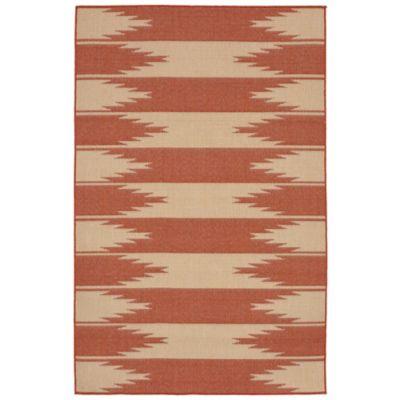 Liora Manne Border 7-Foot 10-Inch x 9-Foot 10-Inch Indoor/Outdoor Rug in Terracotta