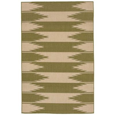 Liora Manne Border 7-Foot 10-Inch x 9-Foot 10-Inch Indoor/Outdoor Rug in Green