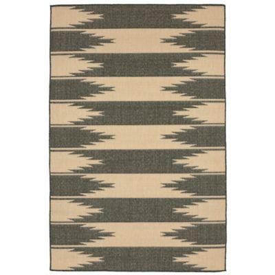 Liora Manne Border 7-Foot 10-Inch x 9-Foot 10-Inch Indoor/Outdoor Rug in Charcoal