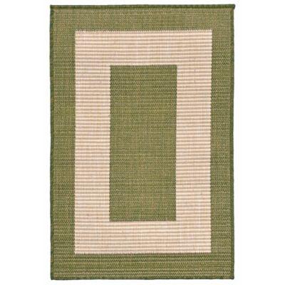 Liora Manne Border 1-Foot 11-Inch x 2-Foot 11-Inch Indoor/Outdoor Accent Rug in Green
