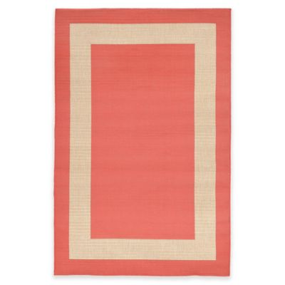 Liora Manne Border 3-Foot 3-Inch x 4-Foot 11-Inch Indoor/Outdoor Rug in Terracotta