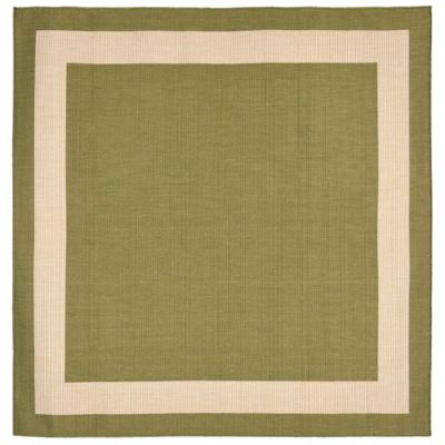 Liora Manne Border 7-Foot 10-Inch Square Indoor/Outdoor Rug in Green