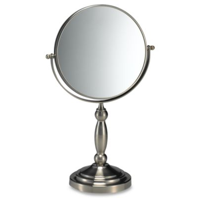 Satin Nickel Two-Sided Vanity Mirror