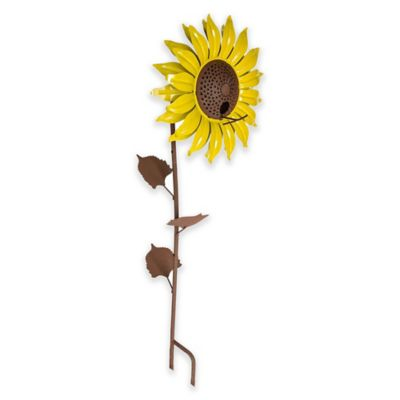Desert Steel Sunflower Bird Feeder