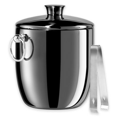 Oggi™ Stainless Steel Double-Wall Insulated Ice Bucket in Black