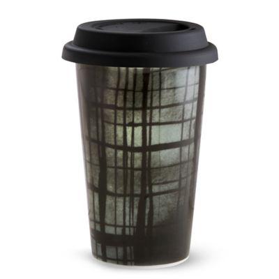 Vera Wang Wedgwood® Vera Print Plaid Travel Mug