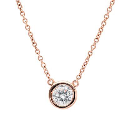 CRISLU 18K Gold-Plated Cubic Zirconia 16-Inch Chain Splash Pendant Necklace