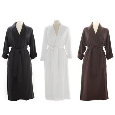 Telegraph Hill Small Twill Double-Layer Microfiber Robe in Black