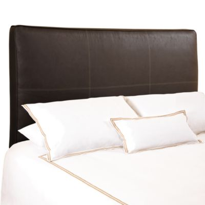 BackDrop™ Avalon Chocolate Distressed Faux Leather King Upholstered Headboard