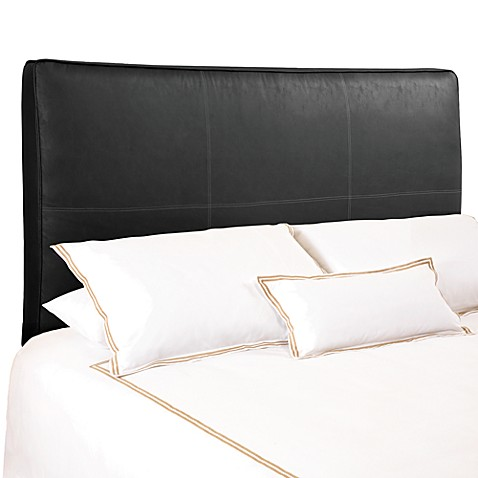 buy backdrop avalon black distressed faux leather full queen upholstered headboard from bed. Black Bedroom Furniture Sets. Home Design Ideas