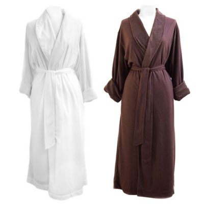 Telegraph Hill Small Waffle Weave Double-Layer Microfiber Robe in White