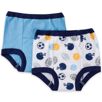 Gerber® Boy 2-Pack Size 2T Cloth Training Pants in Blue/Sport