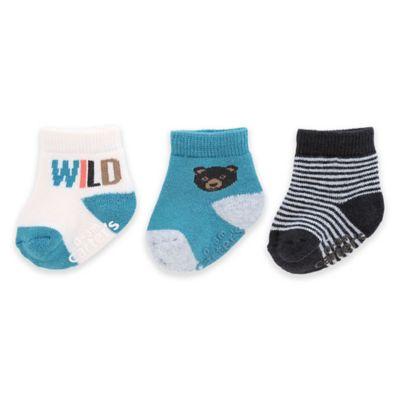 "carter's® Size 0-3M 3-pack ""Wild"" Socks in Multicolor"