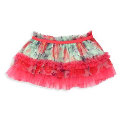 Baby Starters® Newborn Floral Print Tutu Skirt in Mint/Pink