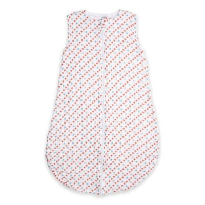 Bebe au Lait® Size 6-12M Tinsley Muslin Full-Zip Wearable Blanket in Red/Blue