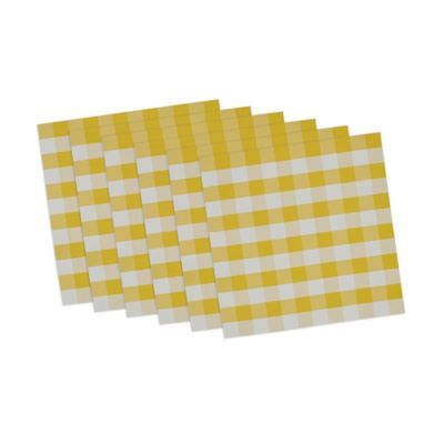 Checkers Placemats in Yellow/White (Set of 6)