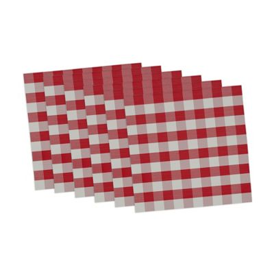 Red/White Outdoor Table Linens