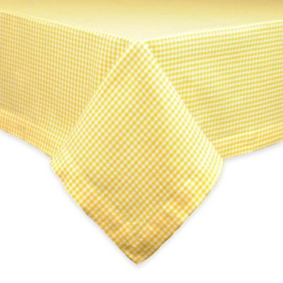 Daffodil Check 52-Inch x 52-Inch Square Tablecloth