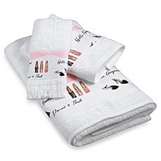 Dressed to Thrill Towels, 100% Cotton
