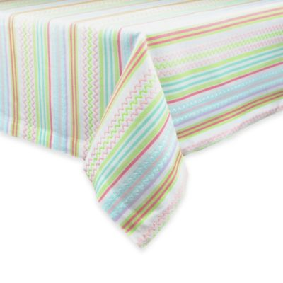 Easter Zigzag Stripe 52-Inch x 52-Inch Tablecloth