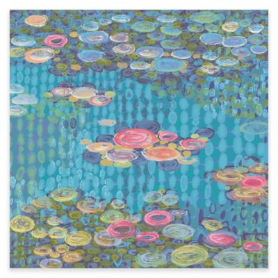 Marmont Hill Homage to Water Lilies II 32-Inch x 32-Inch Canvas Wall Art