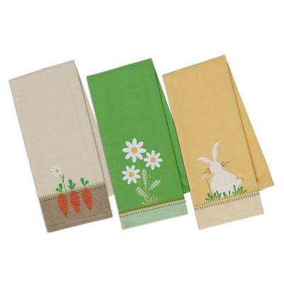 Spring Garden Embellished Dish Towel (Set of 3)
