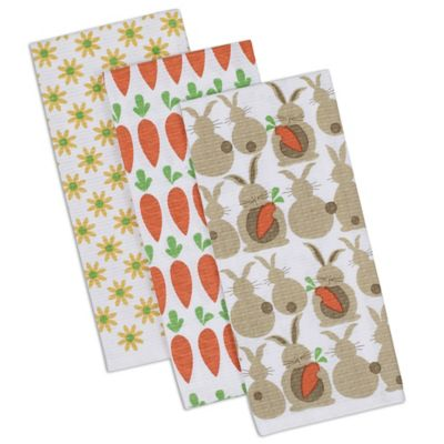 Spring Garden Printed Dish Towel (Set of 3)