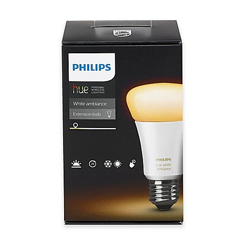 philips hue white ambiance a19 single bulb bed bath beyond. Black Bedroom Furniture Sets. Home Design Ideas