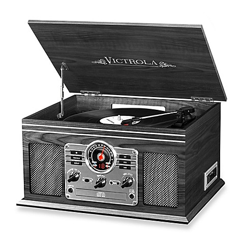 Victrola Wooden 6 In 1 Nostalgic Record Player With