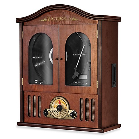 buy victrola wall mounted music center from bed bath beyond. Black Bedroom Furniture Sets. Home Design Ideas