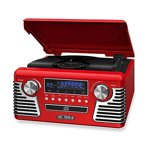 Buy Victrola Retro Stereo With Turntable In Red From Bed