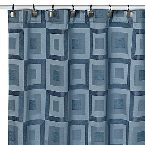 Metro Slate Blue Shower Curtain Bed Bath Beyond